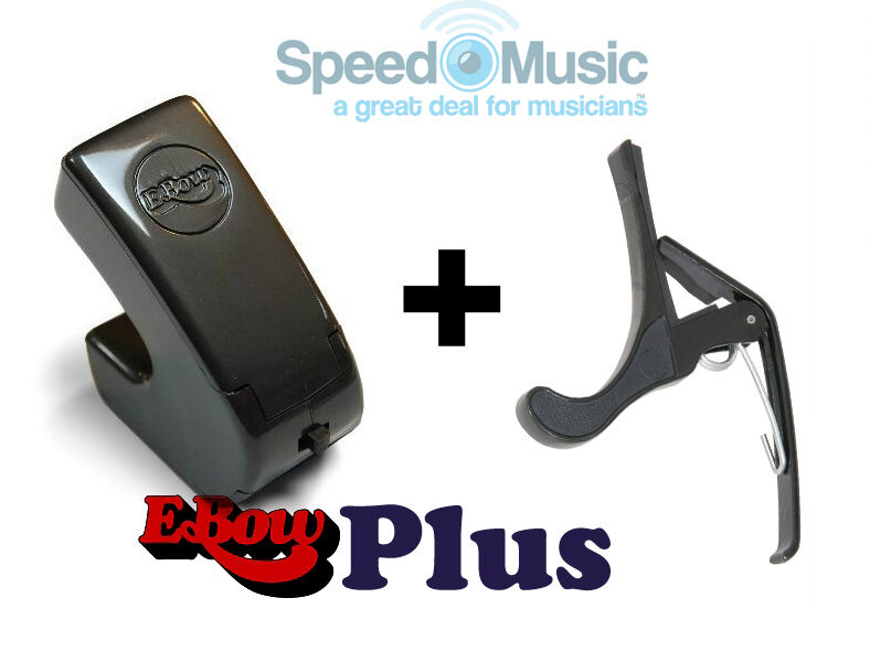 E-Bow Plus for Guitar Effects  (Ebow) Bundled with Squeeze type Guitar Capo