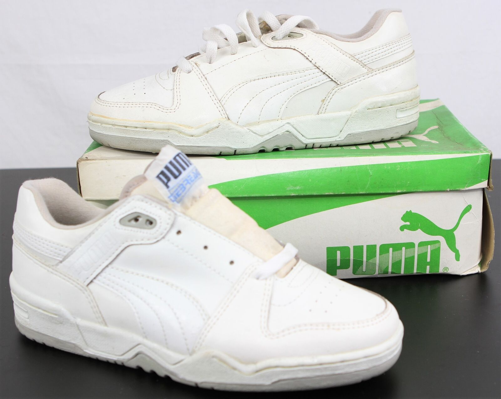 DEADSTOCK 80s 90s PUMA 'tiebreakers'S Zapatillas blancoo Reino Unido 7