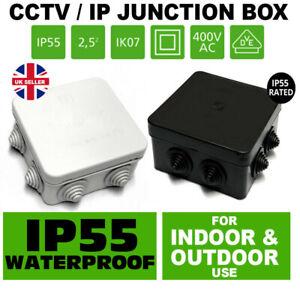 Waterproof Grey Black Ip Outdoor Junction Box Ip55 For Exterior Cctv Garden Ebay