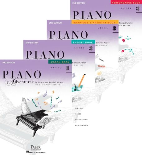 Four Book Pack Lesson//Theory//Perf//Technique Faber Piano Adventures Level 3B
