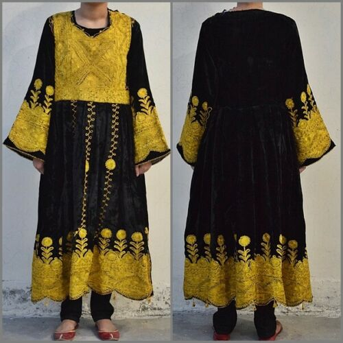 70s Vintage Kuchi Dress Afghan Nomad Boho Tribal E
