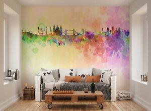 ohpopsi horizon de londres en peinture a l 39 eau d coration murale ebay. Black Bedroom Furniture Sets. Home Design Ideas