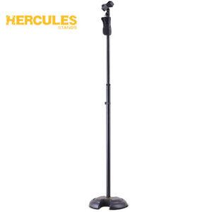 """Hercules Ms201b Ez Grip """"h"""" Base Réglable Microphone Stand Avec Ez Mic Clip-afficher Le Titre D'origine"""