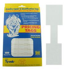 Merchandise Jewelry Price Tag White Square Sticker Style Label 1000 Pcs