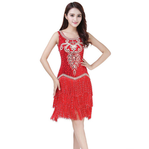 1920s Dress Sequined Tassel 20s Flapper Gatsby Party Performance Outfits
