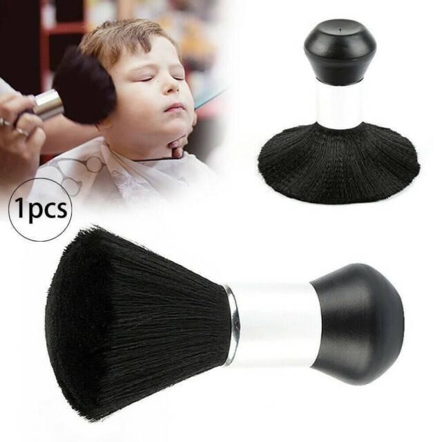 Pro Black Hair Cutting Stylist Salon Duster Barber Neck Brush Clean Hairdressing