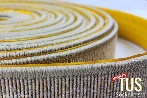Fußleiste Sockelleiste selbstklend aus Ihren Teppichresten von 5 bis 14 cm Höhe