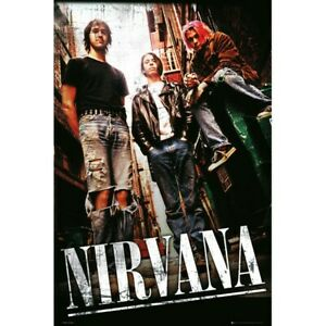Nirvana-Alley-POSTER-61x91cm-NEW-grunge-rock-band-trio-Kurt-Cobain-Dave-Grohl