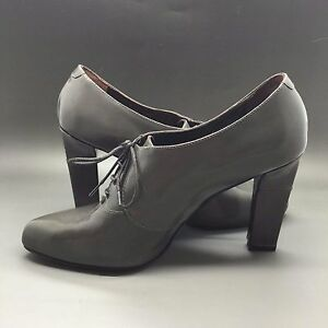 New-Max-Mara-gray-leather-shoes-Booties-boots-lady-38-EU-8-US-made-in-Italy-550