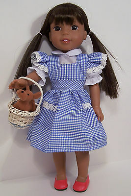 "Debs Wiz-Oz Dorothy BLUE JUMPER Dress BLOUSE Doll Clothes For 18/"" American Girl"