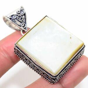 "Mother Of Pearl Handmade Ethnic Style Jewelry Pendant 1.77"" SR-255"
