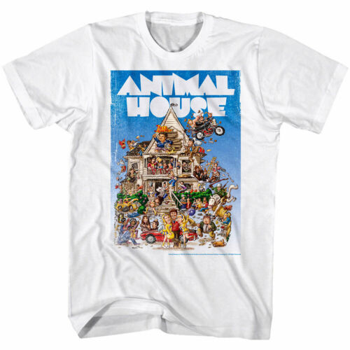 Animal House Vintage Movie Poster Mens T Shirt Belushi Fraternity College Comedy