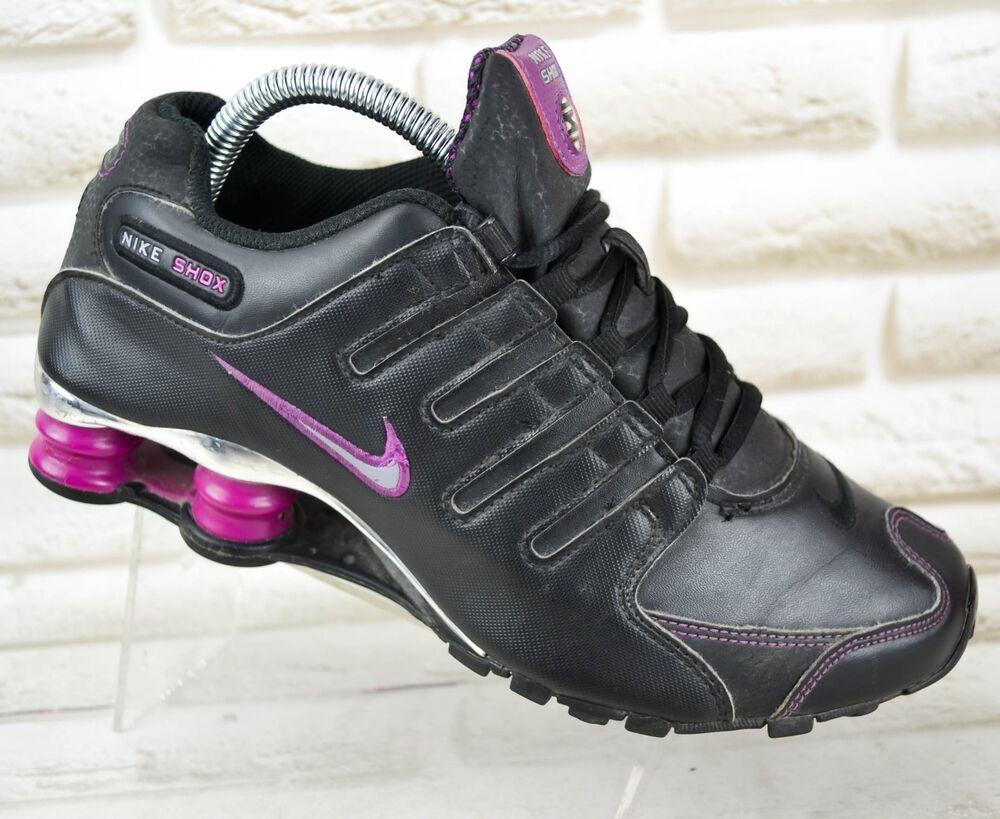 Nike Shox NZ Femme Cuir Baskets Baskets Chaussures Sport Taille 4.5 UK 38 UE-