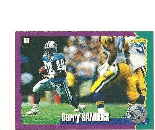 1994 Score  1 Barry Sanders Detroit Lions Free Shipping