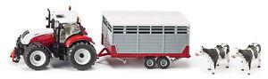 Siku-3870-Steyr-avec-Remorque-a-betail-Agriculture-Modele-Vehicule-Tracteur-Auto