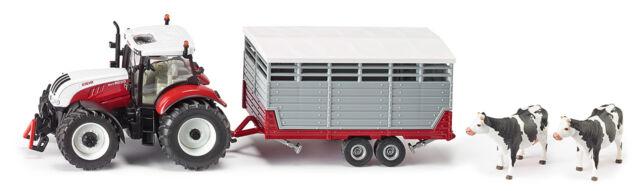 Siku 3870 Steyr con Rimorchi Bestiame Agricoltura Modello Veicolo Trattore Auto