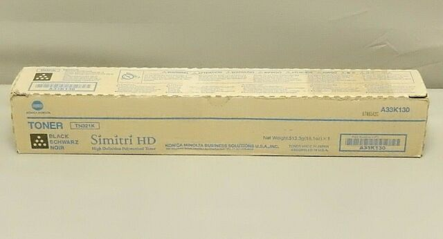 Konica Minolta A33K130 Black Toner TN321K BizHub C224 MFP Genuine New Open Box
