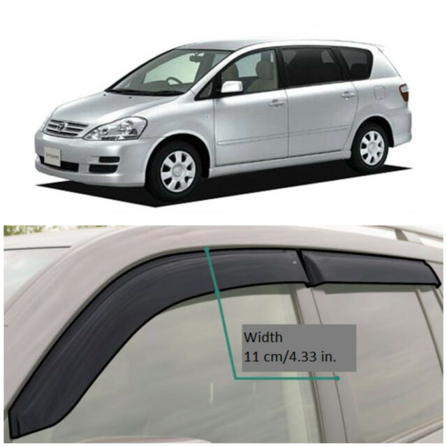 TE23702 Window Visors Sun Guard Vent Wide Deflectors For Toyota Ipsum 2002-2009