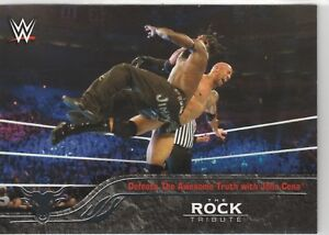 2016-Topps-Heritage-WWE-The-Rock-Tribute-Card-29-Defeats-Awesome-Truth