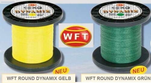 0,07€//1m WFT Round Dynamix 1000m geflochtene Angelschnur Meeresschnur
