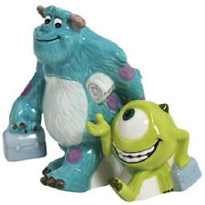 Disney's Monsters Inc. Sully and Mike Ceramic Salt and Pepper Shakers Set UNUSED
