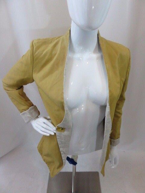 BROGDEN CUIR jaune à hommeches longues Blazer Veste Femme Taille S excellent état utilisé