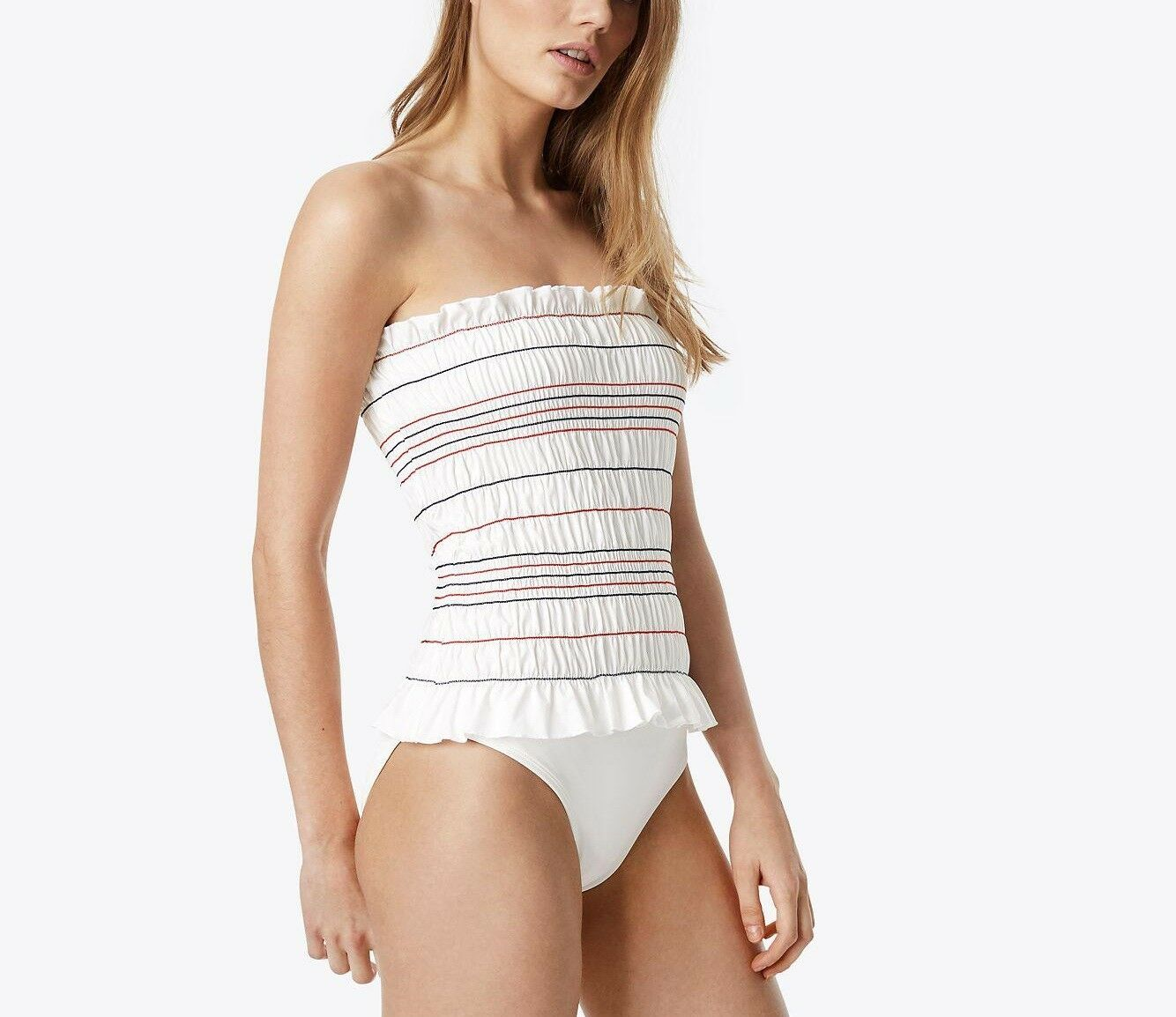Tory Burch White Costa One Piece Swimsuit
