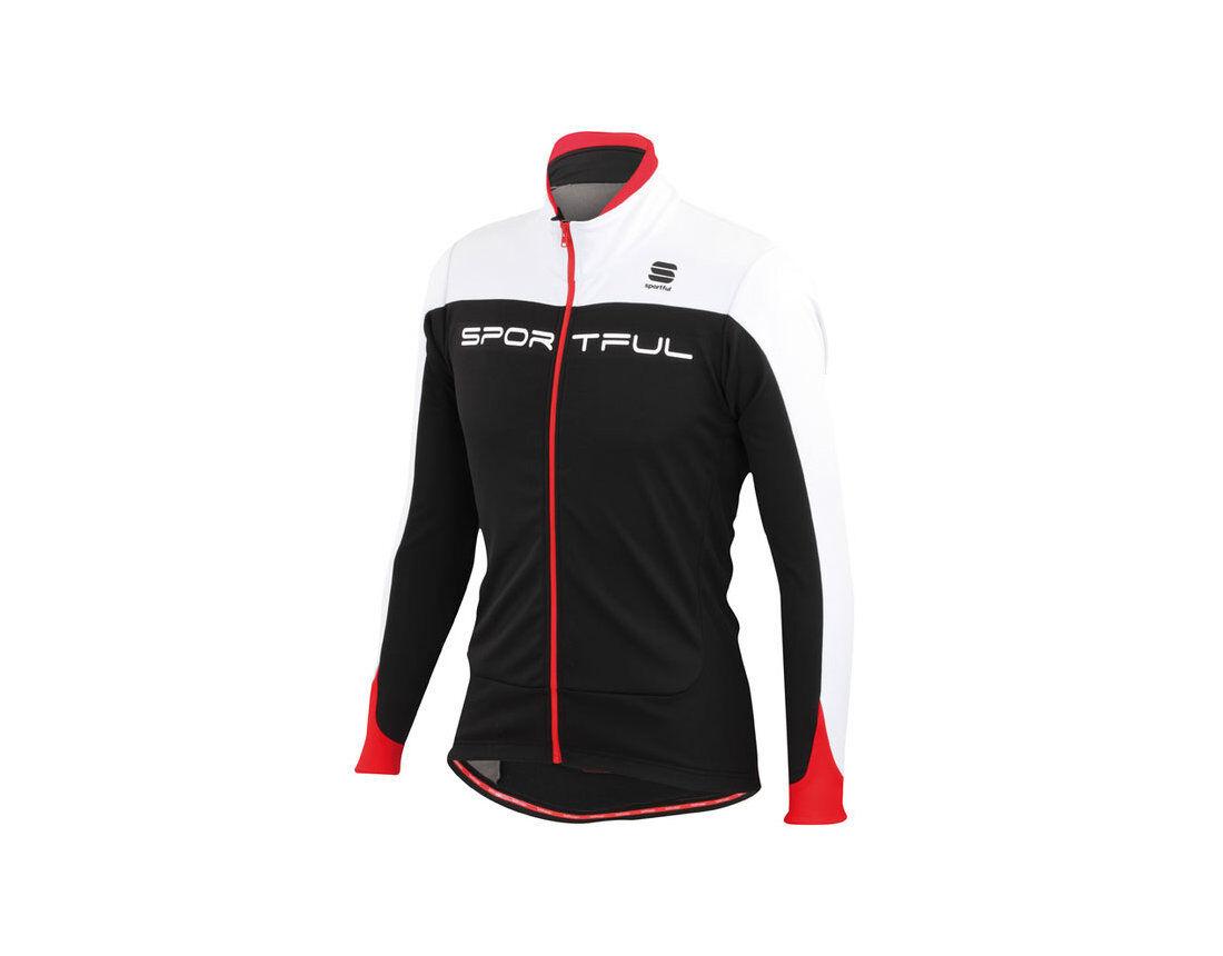 Nuevo Sportful Flash Negro blancoo Chaqueta Softshell De Ciclismo Talla L