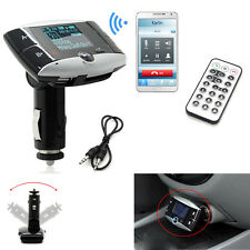 LCD Bluetooth Car Kit Stereo MP3 Player FM Transmitter Steering Wheel USB SD MMC