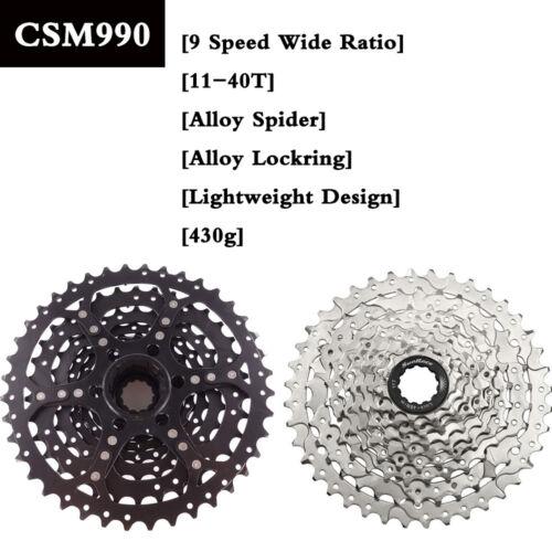 SUNRACE 9 Speed 11-40T CSM990 MTB Bike Cassette Shimano SRAM Freewheel Adapter