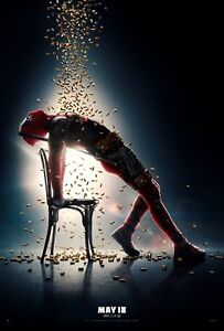 Deadpool 2 Movie Poster 24x36 Josh Brolin v1 - Ryan Reynolds Morena Baccarin