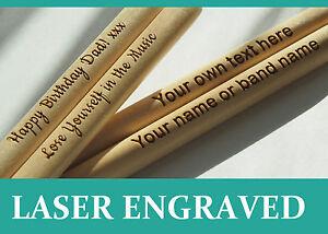 Personalised-drum-sticks-5A-high-quality-maple-wood-custom-bespoke-engraved