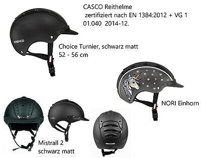 Kinder Reitkappe Casco Gr grau-schwarz CASCO Reithelm Nori Einhorn S 52-56 cm