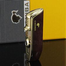 COHIBA Red Wood Snake Mouth Shape Metal Torch Jet Flame Cigarette Cigar Lighter