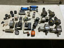 Big Lot Of Pneumatic Hydraulic Valves Manifolds Regulators Control Valves Used