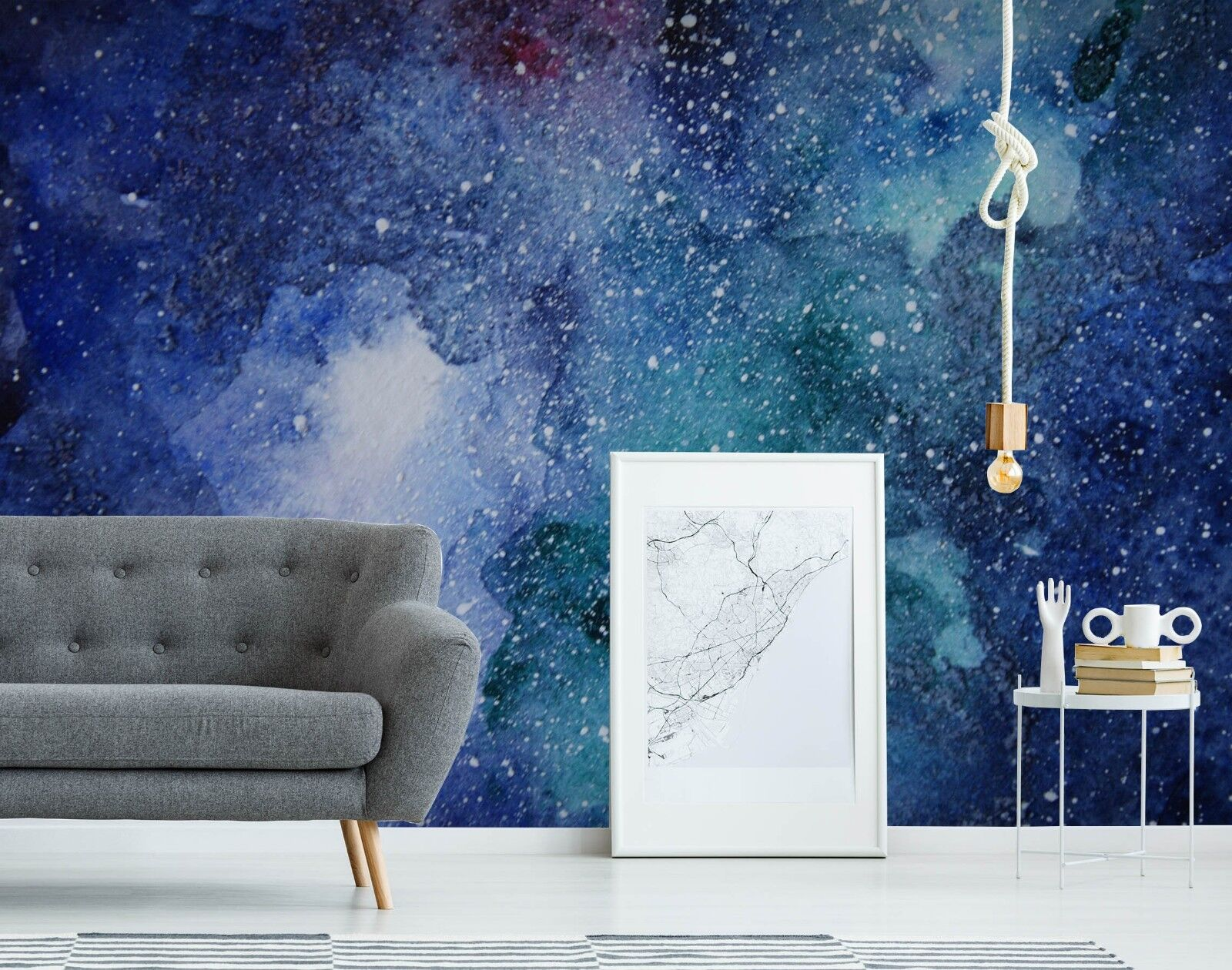 3D Ink Blau Starry 45 Wall Paper Wall Print Decal Wall Deco Indoor Wall Murals
