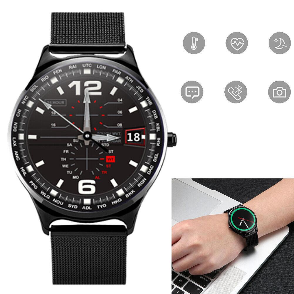 Men Luxury Smart Watch Heart Rate Blood Pressure Monitor Sport Activity Tracker