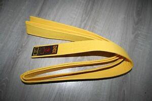 Kampf Gurtel  gelb 280 cm