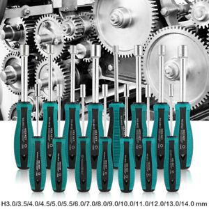 Metal Socket Driver Wrench Screwdriver Hex Nut Key Nutdriver Hand Tools 3mm-14mm