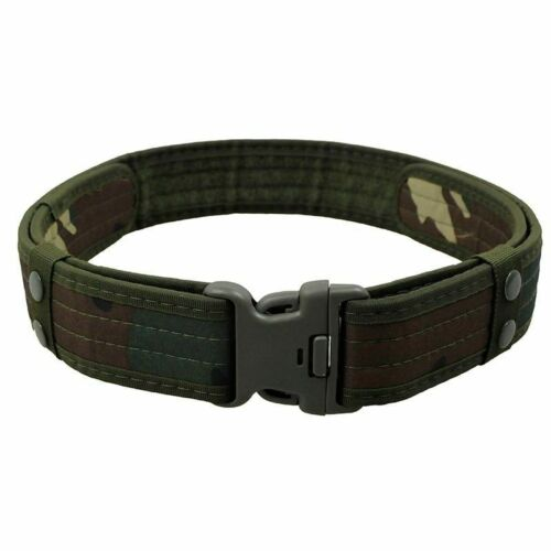 Army Belt Plastic Buckle Powerful Adjustable Canvas Military Leather Outdoor