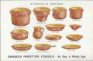 """Volantino """"Stoviglie Grezze"""" Consorzio Produttori Albisola Capo anni '20 Savona"""