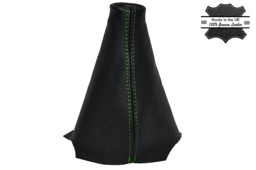 GREEN STITCHING MANUAL LEATHER SKIN GEAR GAITER FITS PEUGEOT PARTNER 2008-2014