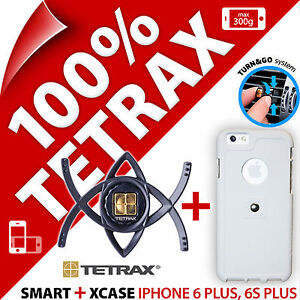 TETRAX-Bundle-per-iPhone-6-Plus-6-in-SMART-PLUS-S-Auto-Supporto-Custodia-cover-XCASE