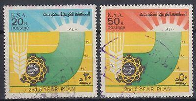 Zu Hohes Ansehen Zu Hause Und Im Ausland GenießEn Beliebte Marke Saudi Arabia 1976 Mi.597/98 Used Fünf-jahres-plan 5 Year Plan g1413