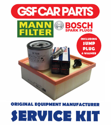 Service kit-huile filtres à air bougies /& carter d/'allumage ford fiesta 1.6 ti 1.4