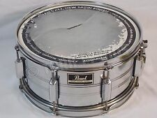 """Genuine Pearl Export Series 14"""" x 6.5 Deep Snare Drum Chrome Damaged Heads AS IS"""