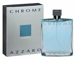 CHROME by AZZARO 6.8 oz Eau De Toilette Spray edt 6.7 Men Cologne 200 ml NEW NIB
