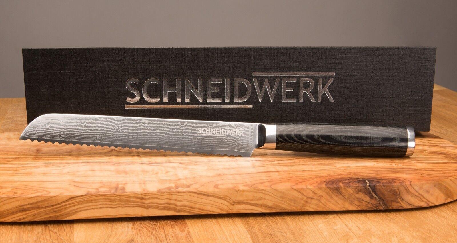 Couteau à pain couteau de cuisine Damassé Couteau damassé Acier Damassé Couteau Cadeau Noble