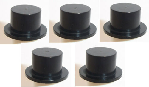 Lego Minifig Top Hats x 5 Black Headgear