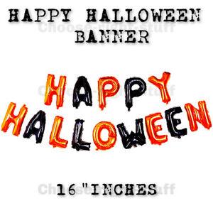 Happy Halloween Balloon Bunting Banner Halloween Decoration NO Helium needed